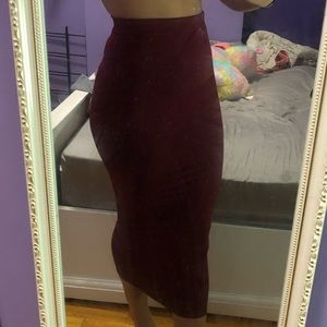 Ankle length pencil skirt